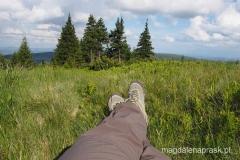 relaksik na polanie przed schroniskiem Jelenka