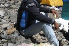 jeden z kolegów naszego Sherpy Dawa - też Sherpa; czekają na puja