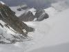widok na ABC z drogi przez  lodową ścianę prowadzącą do Obozu I