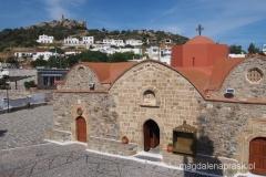 widok z dzwonnicy kościelnej
