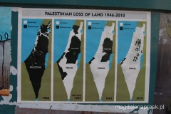 tak zmienił się obszar Autonomii Palestyńskiej