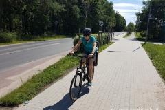 ścieżką rowerową przez Suchy Las