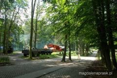 wystawa pojazdów w przypałacowym parku