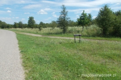 drogowskaz wskazujący drogę w kierunku Mokradeł Glinno