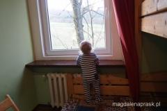 poranek w schronisku PTTK Pasterka - podziwianie widoków