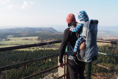podziwiamy widoki ze szczytu Szczelińca Wielkiego