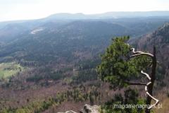 na szczycie Koruna - widok na Szczeliniec