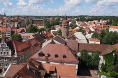widok na misto z wieży katedry