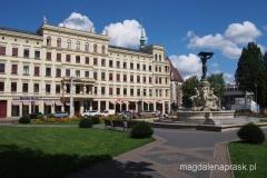 Plac Postplatz i budynek dawnego Viktoria-Hotel
