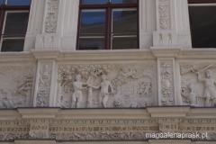 Biblisches Haus - fasada ozdobiona scenami biblijnymi