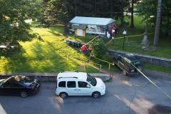 namiot organizatorów biegu Przez 7 Szczytów