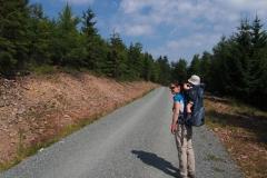 wracamy tą samą drogą, na niebieskim szlaku