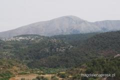 Ataviros - najwyższy szczyt Rodos widziany z Kamiros Skala