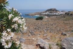 widok na Lindos, Akropol i zatoke