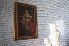 piękne pałacowe wnętrza, obraz Poniatowskiego