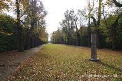 ogrody na tyłach pałacu w Nieborowie