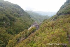 widok na wzgórza otaczające Rabacal