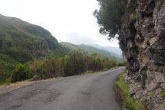najpierw asfaltową drogą schodzimy w dół do początku szlaków