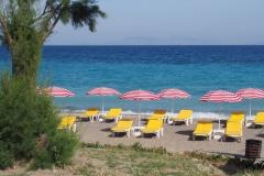 jedna z plaż na Rodos