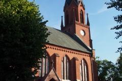 kościół przy głównej ulicy Ustki