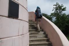 wchodzimy na wieżę widokową na szczycie Wielka Sowa