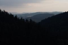zachód słońca w Górach Sowich