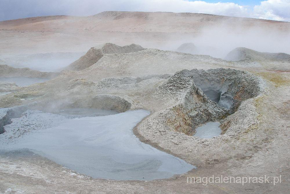 pole gejzerów Porannego Słońca, Altiplano, Boliwia