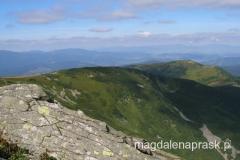 widok na Beskid Żywiecki ze szczytu Babiej Góry