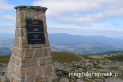 na szczycie Babiej Góry - tu przebiega granica z Czechami
