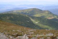 szczyt Babiej Góry (Diablaka) nieco z boku