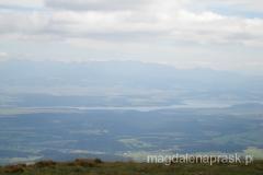 widok ze szczytu Babiej Góry w stronę Czech