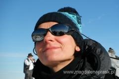 na szczycie Babiej Góry - w taki nastrój wprawił mnie widok na Tatry