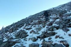 ostatnie metry dojścia na szczyt Babiej Góry
