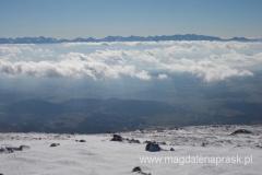 na szczycie Babiej Góry (1.725m npm) - wspaniały widok na Tatry