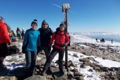 nasz trójka na szczycie Babiej Góry (1.725m npm) - z Jackiem i Piotrem