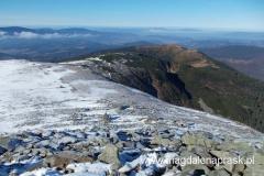 widok z Babiej Góry w kierunku zachodnim - ku Małej Babiej Górze