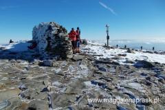 na szczycie Babiej Góry (1.725m npm)