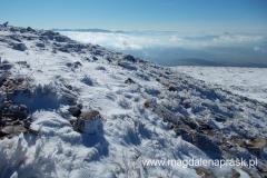 zima na szczycie Babiej Góry