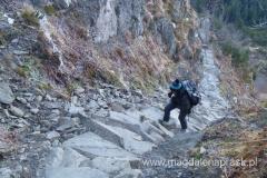 na szlaku Perć Akademików w drodze na szczyt Babiej Góry