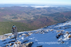 ostatnie metry w drodze na szczyt Babiej Góry