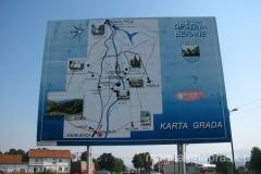 mapa Berane - zaznaczono tu tylko jeden z klasztorów