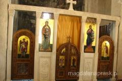 wnętrze cerkwi św. Jerzego - ikonostas