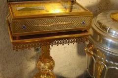 relikwie w cerkwii św. Jerzego