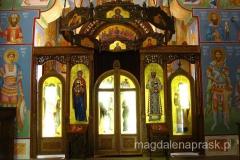 ikonostas we wnętrzu Monastyru Siudikovo