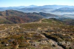 wielkie zręby dominują w krajobrazie Beskidu Śląskiego