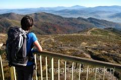 na wieży widokowej na Baraniej Górze