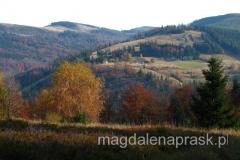 Przełęcz Karkoszczonka; ostatnie momenty za dnia... do schroniska doszliśmy już po ciemku