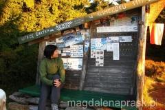 urocza chatka pod szczytem Klimczoka