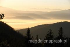 słońce wschodzi nad Beskid Śląski
