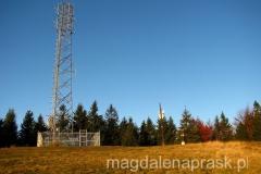 wieża na szczycie Klimczoka 1.117m npm